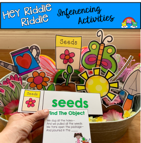 """Hey Riddle Riddle"" Garden Themed Riddles For The Sensory Bin"