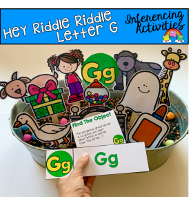 """Hey Riddle Riddle"" Letter G Activities For The Sensory Bin"