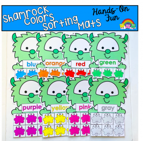 Shamrock Colors Sorting Mats