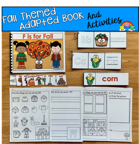 """F Is For Fall"" Adapted Book And Activities"