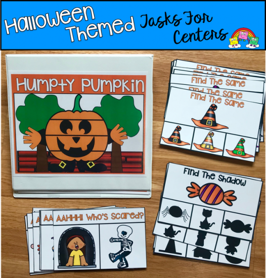 Halloween Themed Centers: Humpty Pumpkin and More