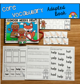 """Ginger Needs Help!"" (Working With Core Vocabulary)"