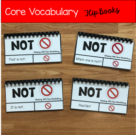 "Core Vocabulary Flip Books ""Working With the Word Not"""