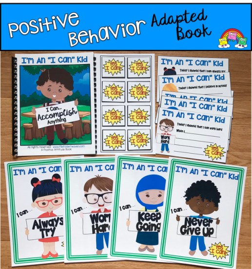"""I\'m An I Can Kid\"" Positive Behavior Adapted Book And Visuals"