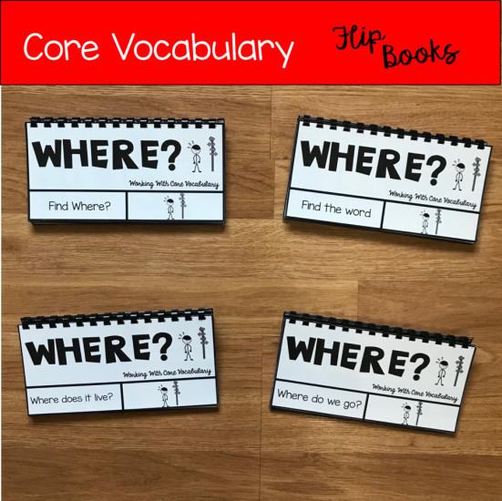 "Core Vocabulary Flip Books: ""Working With The Word Where\"""