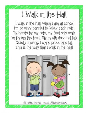 I Walk In The Hall Classroom Poster