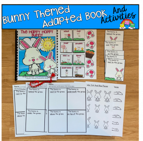 """The Happy Hoppy Bunny"" Prepositions Book And Activities"