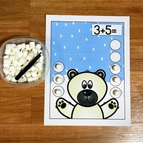Polar Bear Marshmallow Math