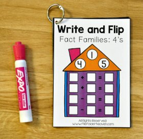 Fact Families Write and Flip Bundle
