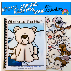 """Where Is The Fish?"" Arctic Animals Themed Adapted Book"