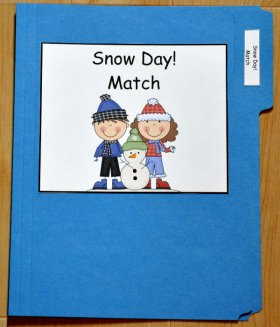 Snow Day! Match File Folder Game