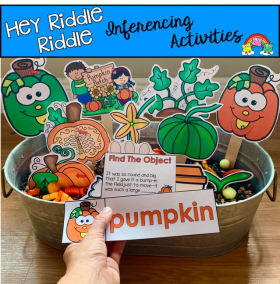 """Hey Riddle Riddle"" Pumpkin Riddles For The Sensory Bin"