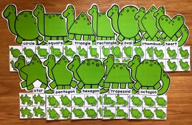 Dinosaur Shapes Sorting Mats