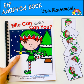 """Elfie Can Can You"" Movement And Imitation Book"