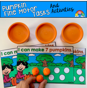 Pumpkin Fine Motor Tasks