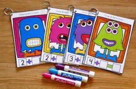 Monster Math Draw and Flip Books