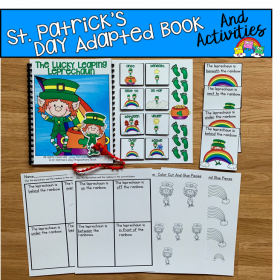 """The Lucky Leaping Leprechaun"" Prepositions Book And Activities"