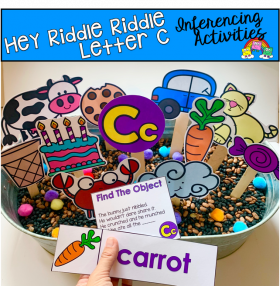 """Hey Riddle Riddle"" Letter C Activities For The Sensory Bin"