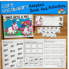 """Unis Gets A Pet"" (Working With Core Vocabulary)"