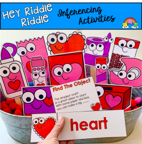 """Hey Riddle Riddle"" Valentine's Day Craft Themed Riddles"