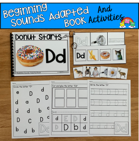 """Donut Starts With D"" (Beginning Sounds Book And Activities)"
