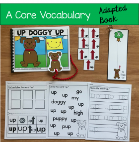 """Up Doggy Up!"" (Working With Core Vocabulary)"