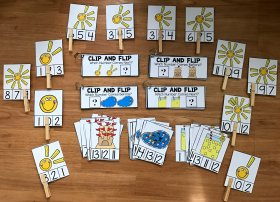 Simple Math Centers for Summer