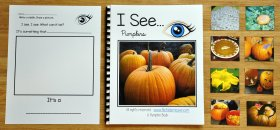 """I See"" Pumpkins Adapted Book (w/Real Photos)"