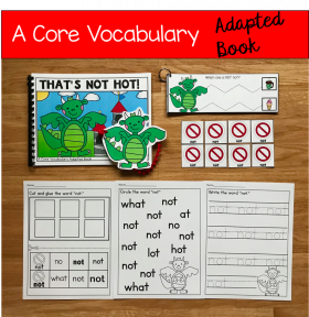 """That's Not Hot!"" (Working With Core Vocabulary)"
