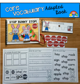 """Stop Bunny Stop!"" (Working With Core Vocabulary)"