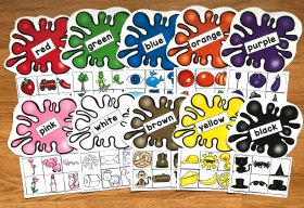 Colors and Color Words Sorting Mats