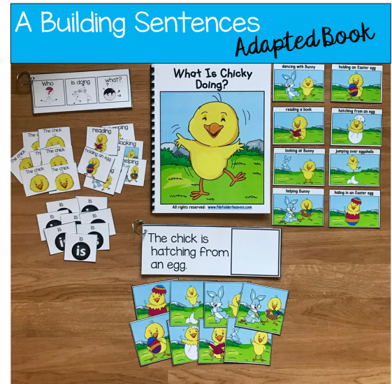 photo relating to Sentence Building Games Printable named Chick Sentence Builder E-book: What Is Chicky Performing? - $3.50