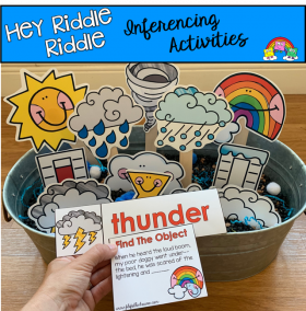 """Hey Riddle Riddle"" Weather Activities For The Sensory Bin"