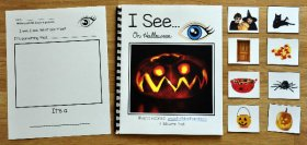 """I See"" On Halloween Adapted Book (w/Real Photos)"