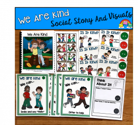 """We Are Kind"" Social Story Unit"