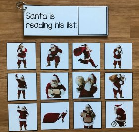 Christmas Matching and Sentence Comprehension w/Real Photos