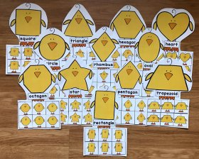 Chicks Shapes Sorting Mats