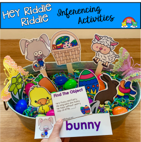 """Hey Riddle Riddle"" Easter Activities For The Sensory Bin"