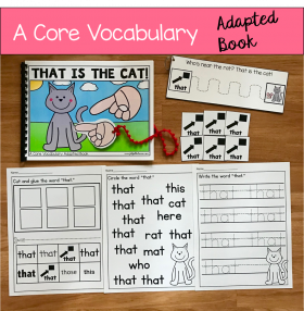 """That Is The Cat!"" (Working With Core Vocabulary)"