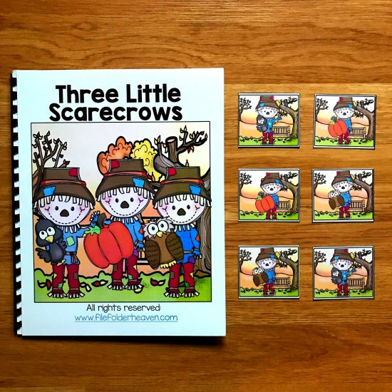 Three Little Scarecrows Adapted Book