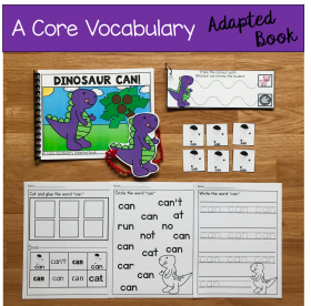 """Dinosaur Can!"" (Working With Core Vocabulary)"