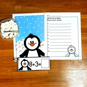 Penguin Marshmallow Math