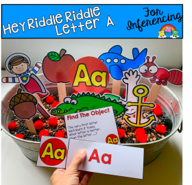 """Hey Riddle Riddle"" Letter A Activities For The Sensory Bin"