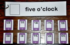 Cell Phone Clocks Time Words Flip Strips
