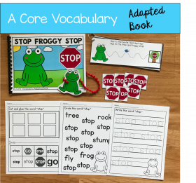 """Stop Froggy Stop!"" (Working With Core Vocabulary)"