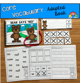 """Bear Says No"" (Working With Core Vocabulary)"