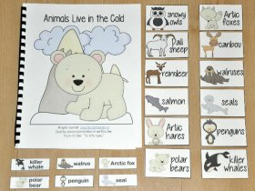 """Animals Live in the Cold"" Adapted Song Book"