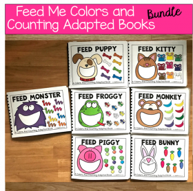 Feed Me! Colors and Counting Adapted Books Bundle