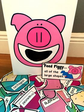 Sensory Bin Activities: Feed Piggy Activities