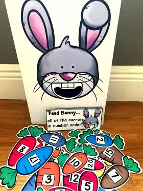 Sensory Bin Activities: Feed Bunny Activities